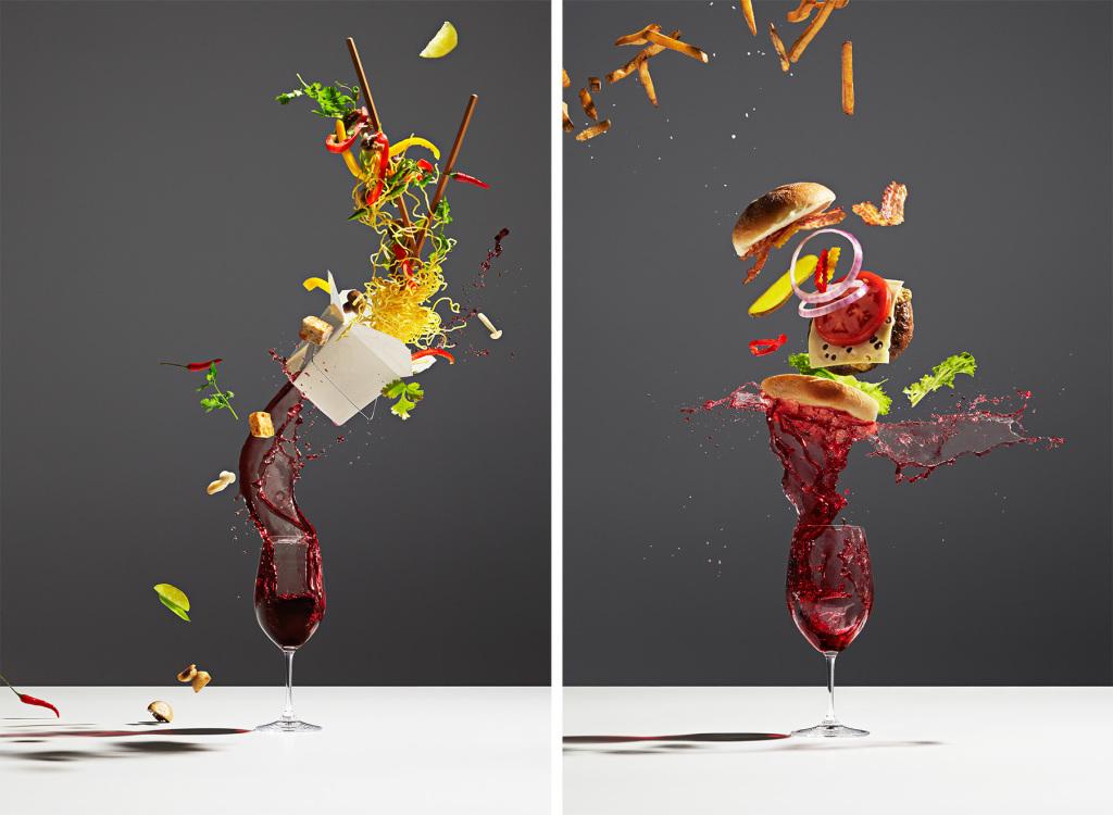 "фуд-фото Майкла Крайтона_GQ Magazine ""The New Rules Of Wine"""