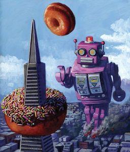 роботы и пончики_иллюстрация4_автор Эрик Джойнер (Eric Joyner)