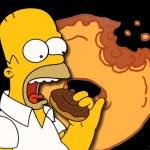 гомер симпсон с пончиком Donuts