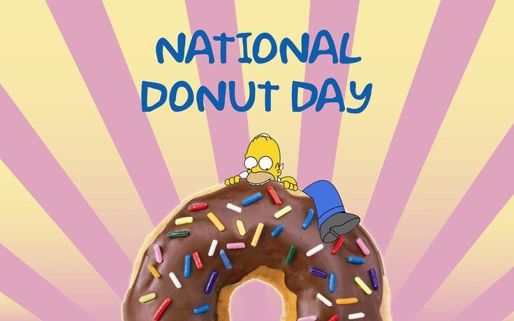 гомер симпсон с пончиком Donuts_день пончика донадс