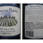 2004 Beaux Frères Pinot Noir Beaux Frères Vineyard