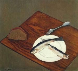 натюрморт Селедки-1917- Давид Штеренберг   800 х 729