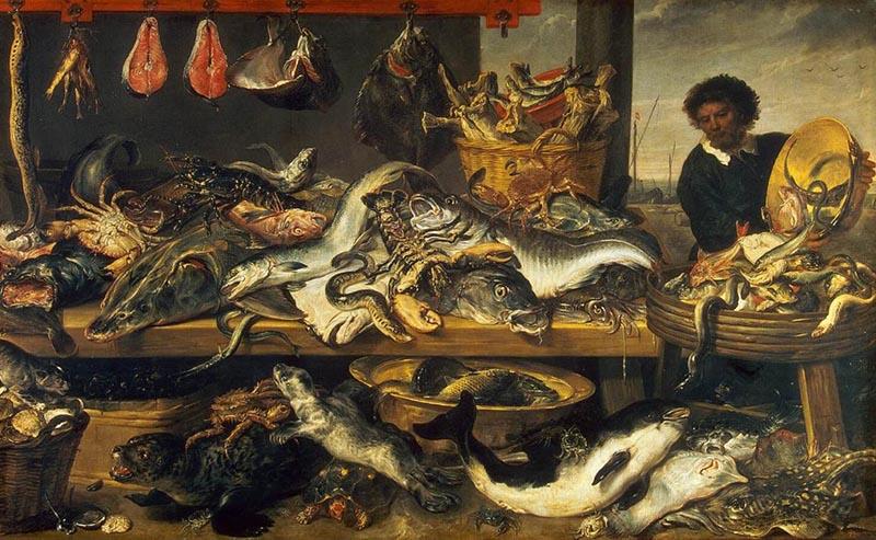 Рыбная лавка- Франс Снейдерс -800 х 493