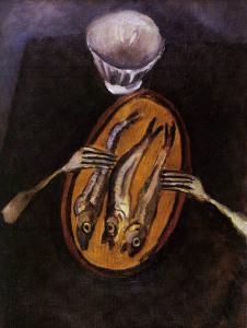 Хаим Сутин Натюрморт с селедкой, 1916   604 х 800