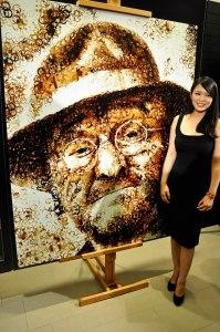 Hong Yi - автор портрета Лючио Далла