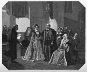 иллюстрация Император Карл V посещает могилу рыбака 650 х 539