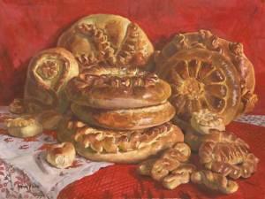 С. Андрияка. Домашние пироги. 1996 800 х 600