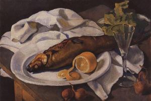 Селедка и лимон- Зинаида Серебрякова - 750 х 500