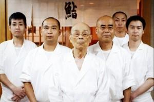 групповое фото сотрудников ресторана дзиро оно