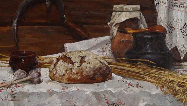 хлеб в живописи 600 х 340