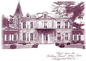 рисунок вином-поместье Шато Шеваль Блан