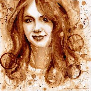 портрет актрисы Карен Гиллан_растворимый кофе_hoernchen610
