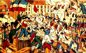 """иллюстрация """"восстание лионских ткачей"""" 600 х 370"""