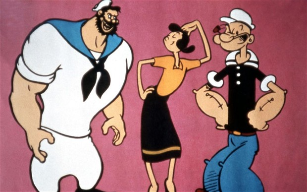 Bluto Olive Oyl and Popeye...