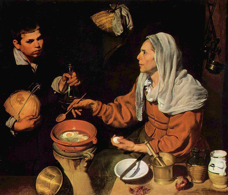 Диего Веласкес Женщина, готовящая яйца 800 х 683