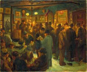 Максорли в субботний вечер, художник Джон Слоан  850 х 707