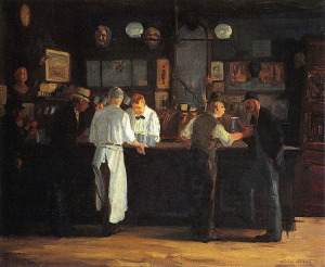 Джон Слоан бар Максорли, 1912  750 х 615