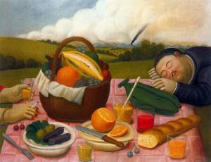 Фернандо Ботеро-Fernando Botero-'Picnic'