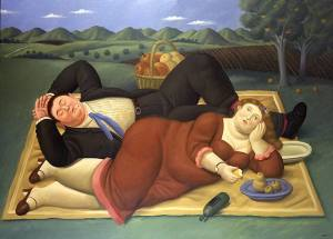 Фернандо Ботеро-Fernando Botero-'Picnic'-4