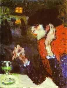 Любительница абсента -Пабло Пикассо-1901