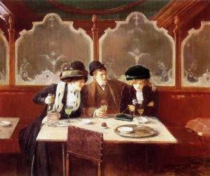 Жан Беро (фр. Jean Béraud)-Au Cafe