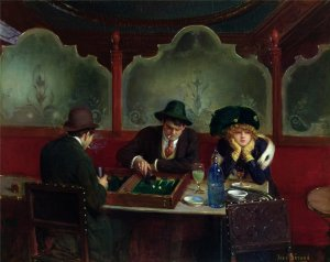 Жан Беро (фр. Jean Béraud)-The Backgammon Players
