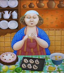 елена наркевич-2007- торт-крендельки