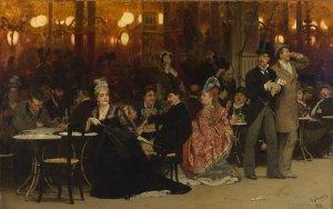 парижское кафе-картина ильи репина