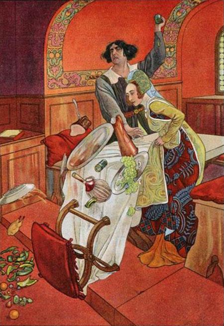 Артус Шайнер иллюстрация к Укрощению строптивой 600 х 656