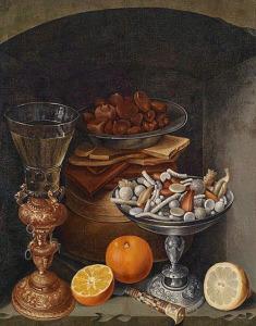 Georg Flegel натюрморт со сладостями 500 х 637