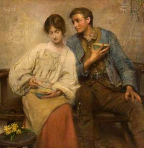 """A Dinner of Herbs"" by George William Joy"