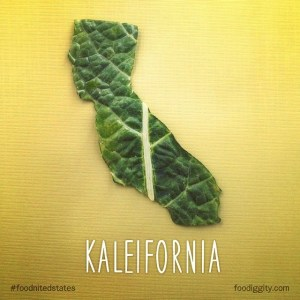 Kaleifornia. Part of The Foodnited States of America