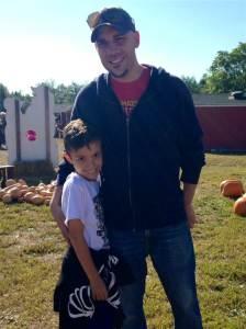 Крис Дюрсо с сыном-