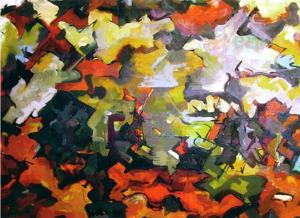 Одри Флэк, абстрактный пейзаж 1950 700 х 510