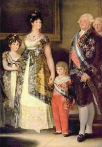 Франциско Гойя портрет Карла IV с семьей фрагмент 700 х 1012