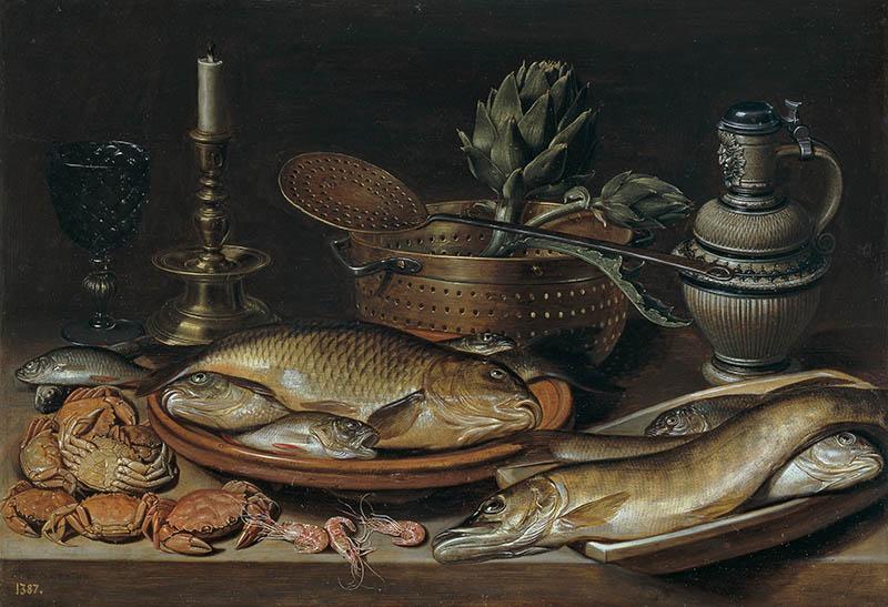 Клара Петерс натюрморт с рыбой 800 х 547