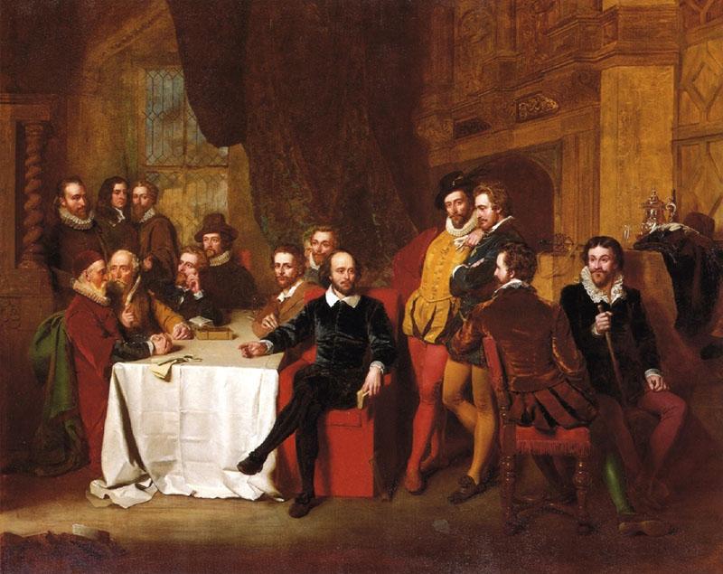 художник Томас Фаед Шекспир с друзьями 800 х 635