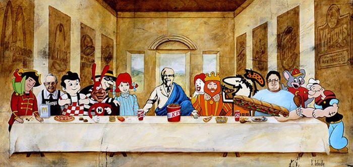 поп-культура -last-supper-фаст-фуд