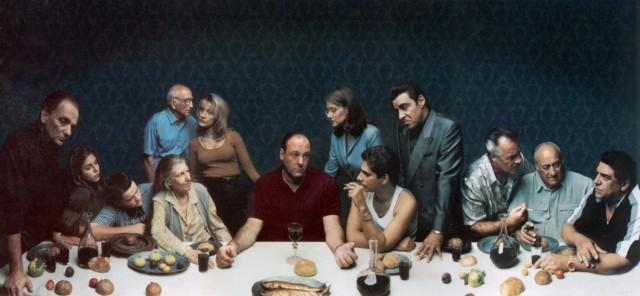 поп-культура -last-supper-клан сопрано