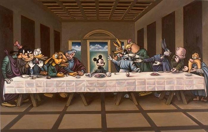 поп-культура -last-supper-майти маус