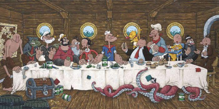 поп-культура -last-supper-морячок попай