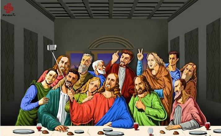 поп-культура -last-supper-селфи