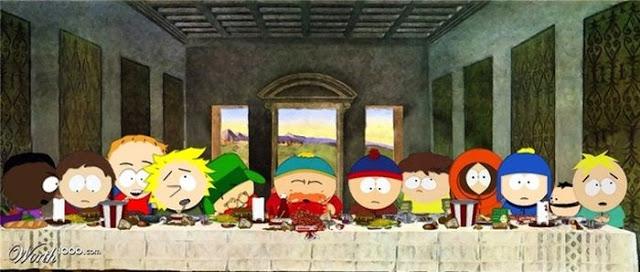 поп-культура -last-supper-южный парк