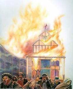 пожар в лондонском Глобусе 400 х 485