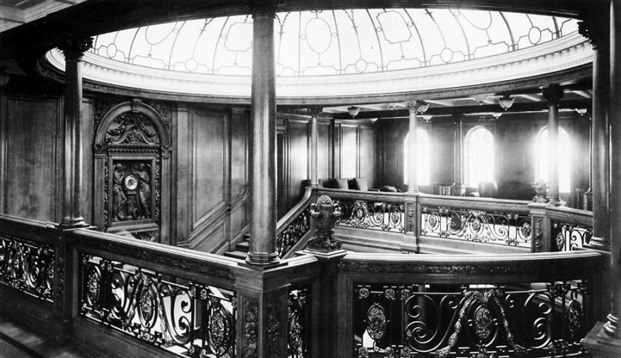 вид на обеденный салон Титаника