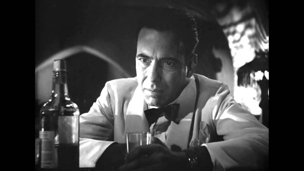 Хэмфри богард - сцена из фильма Casablanca