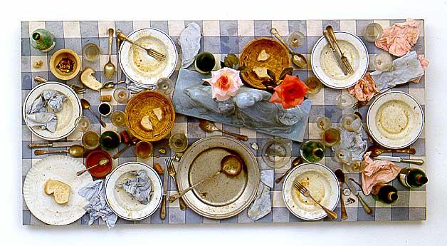 Daniel Spoerri, - Kichka's Breakfast I - Assemblage-1960