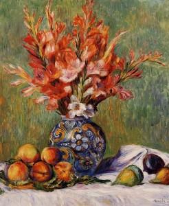 Ренуар-натюрморт-Цветы и фрукты 800 х 973