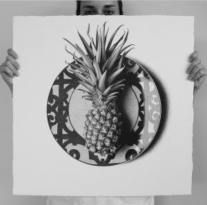 арт-работы-художник CJ Хендри-ананас