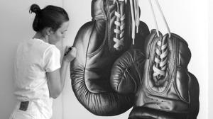 арт-работы-художник CJ Хендри-гигантские боксерские перчатки